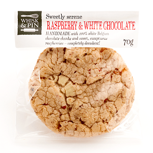 Cookies Raspberry & White Chocolate 80G (12 Per Carton)